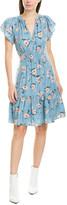 Rebecca Taylor Daniella Silk-Blend A-Line Dress