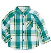 Hurley Infant Boy's Plaid Woven Top