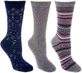 Cuddl Duds Plushfill Performance Outdoor Wool Socks Set of 3