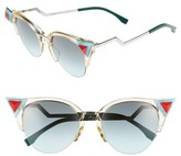 Fendi Women's 52Mm Cat Eye Sunglasses - Blue/ Orange