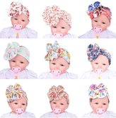 Gellwhu 9PCS Baby Girl Floral Wide Turban Elastic Headband Head Wrap Hair Band