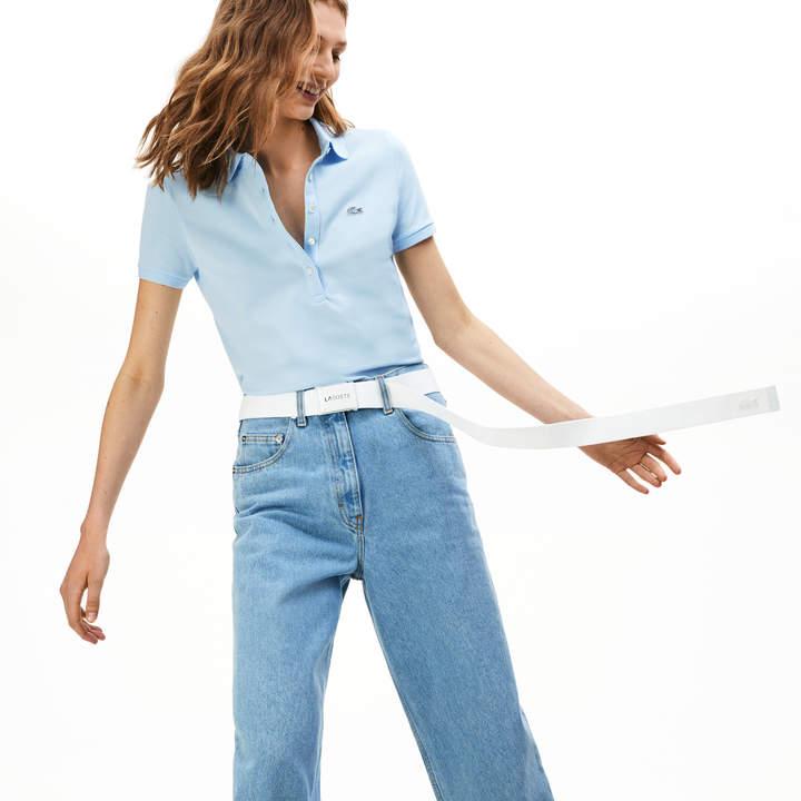 1cde2a53 Women's Slim Fit Stretch Mini Cotton Pique Polo Shirt