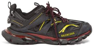Balenciaga Track Low Top Leather Trainers - Mens - Black Multi