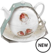 Royal Worcester Wrendale Tea For One Set With Saucer – Robins