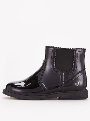 Very ToeZone at Younger Girls Patent Brogue School Boot - Black
