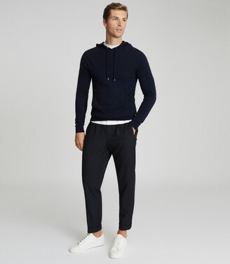 Reiss Santiago - Cashmere Blend Hoodie in Navy