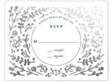 Minted Floral Frame Foil-Pressed RSVP Cards