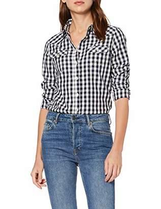 Wrangler Women's Ls Western Shirt Blouse,Large