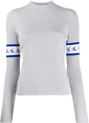 Calvin Klein Jeans logo sleeve sweater