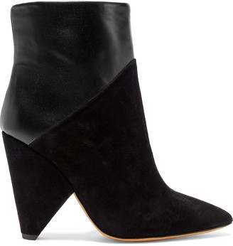 IRO Vileana Leather And Suede Ankle Boots