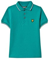 Lyle & Scott Green Tipped Polo Top