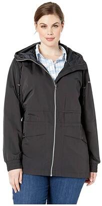 Columbia Plus Size Day Trippin'tm Jacket (Black) Women's Coat