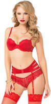 Seven Til Midnight SEVEN 'TIL MIDNIGHT Women's Irresistible 3 Piece Bra Set