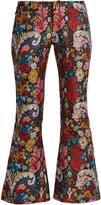Marques Almeida MARQUES'ALMEIDA Floral-brocade cropped trousers