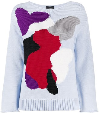 Emporio Armani Abstract Printed Sweatshirt