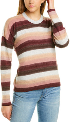 Atm Anthony Thomas Melillo Striped Wool-Blend Sweater
