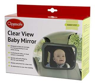 clear Clippasafe View Baby Mirror