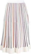 Missoni striped knitted midi skirt