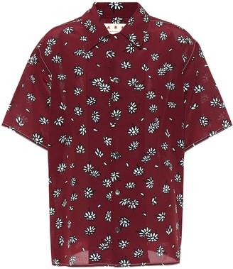 Marni Floral-printed silk shirt