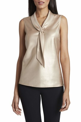 Tahari ASL Women's Sleeveless Sailor Top