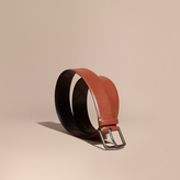Burberry Leather Belt with Check Detail