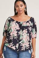 Forever 21 FOREVER 21+ Plus Size Floral Scoop Neck Top