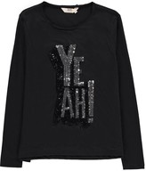 Little Eleven Paris Ress Yeah Sequin T-Shirt