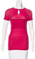 Nina Ricci Lace-Trimmed Short Sleeve T-Shirt