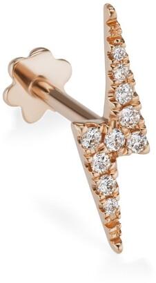 Maria Tash Diamond Lightning Bolt Threaded Stud Earring (11Mm)