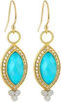 Jude Frances 18K Provence Pave Diamond & Doublet Marquise Dangle & Drop Earrings