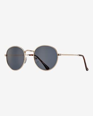 Express Blue Planet Eco-Eyewear Ash Round Polarized Sunglasses