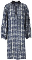 Amanda Wakeley Tempo Denim Printed Shirt Dress