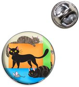 Made On Terra Cat Caboodle Lapel Hat Tie Pin Tack