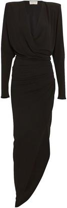 Alexandre Vauthier Draped Jersey Long Sleeve Dress