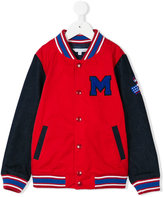 Little Marc Jacobs chest patch bomber jacket - kids - Cotton/Polyester - 5 yrs