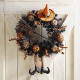 Pier 1 Imports Orange & Black Witch Wreath