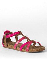 Classic Girls Gladiator Play Sandals-Vivid Peony