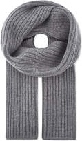 Thom Browne Striped Ribbed Wool Scarf