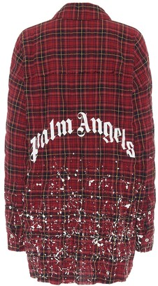 Palm Angels Checked stretch-cotton shirt