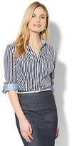 New York & Co. 7th Avenue - Madison Stretch Shirt - Stripe - Petite