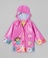 Dora the Explorer Pink Raincoat - - Infant Toddler & Girls