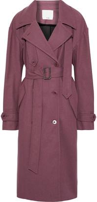 Tibi Brushed-twill Trench Coat