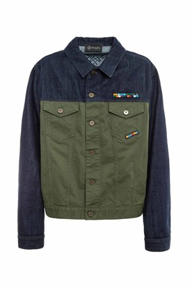 Mr & Mrs Italy Cotton Cavalry And Denim Jacket For Man