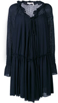 See by Chloe pleated dress - women - Cotton/Polyester - XS