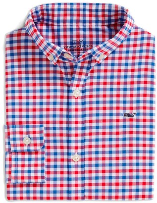 Vineyard Vines Grouper On the Go Wrinkle Resistant Performance Button-Down Shirt