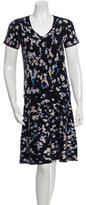 Kenzo Short Sleeve Patterned Dress