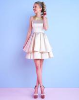 Mac Duggal Homecoming - 30445N Beaded Jewel Neck Pleated Dress
