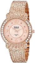 Burgi Women's Glamour Diamond Quartz Watch with Mother of Pearl Dial and Rose Gold-Tone Metal Bracelet BUR120RG
