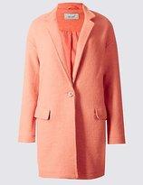 Per Una Wool Blend One Button Coat