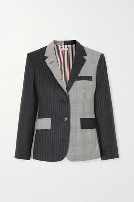 Thom Browne Paneled Wool Blazer - Charcoal